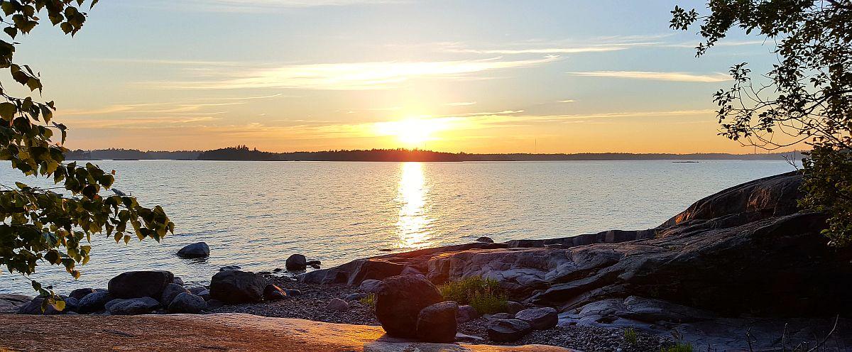 Auringonlasku ja Gåsgrund