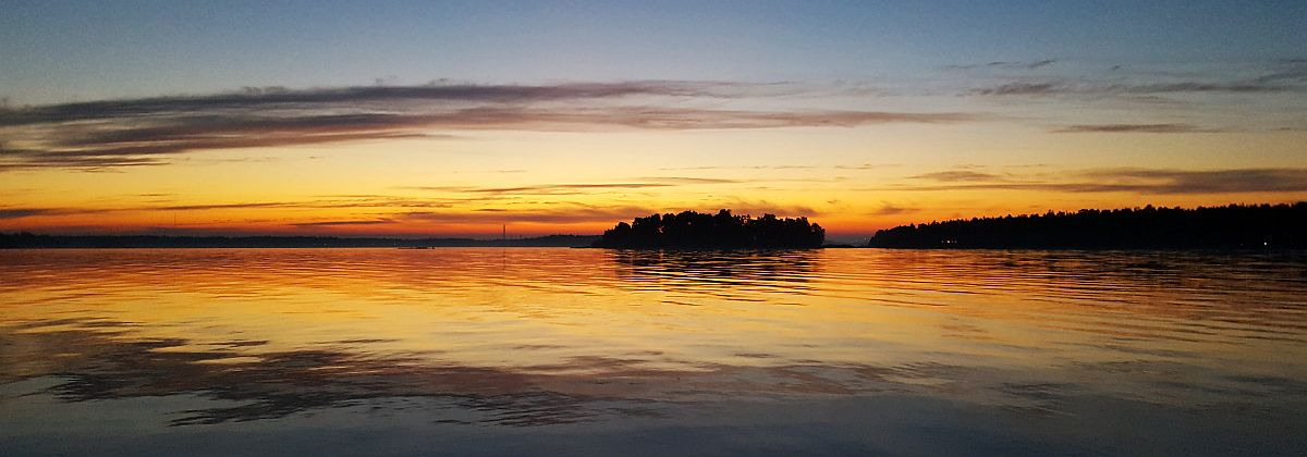 Auringonlaskun jälkeen Gåsgrundissa