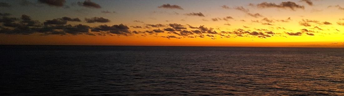 Auringonnousu Karibian risteilyllä