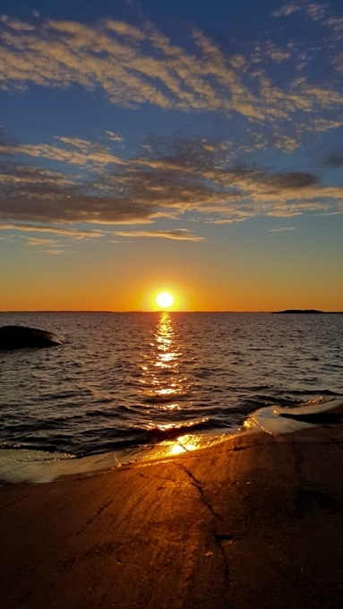 Auringonlaskun aikaan