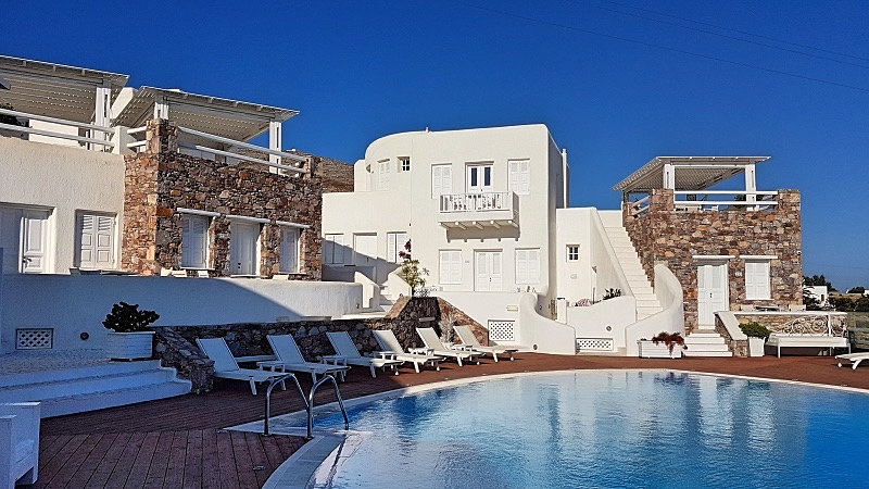 Hotelli Folegandrosin keskustan lähettyvillä