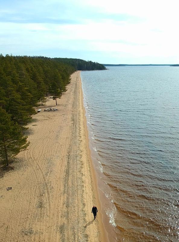 Huuhanranta on yli kilometrin pituinen ranta