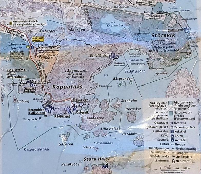 Kopparnäsin alueen kartta