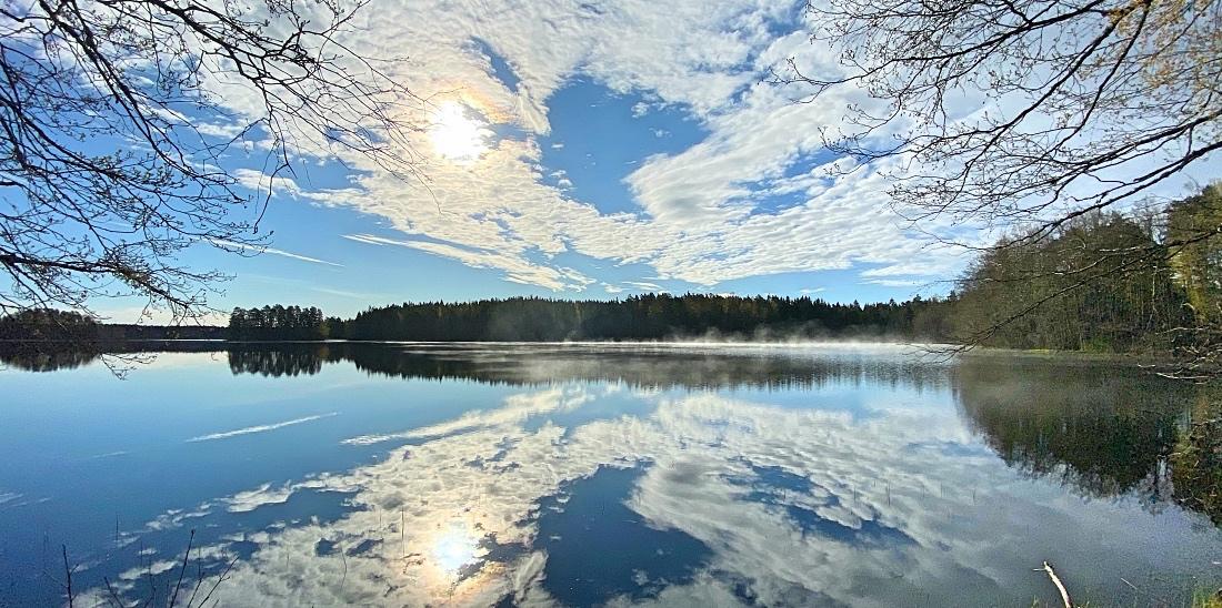 Liesjärven kansallispuiston tyyni järvi