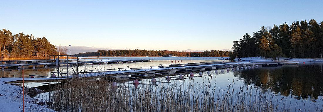 Linlon satama talvella Kirkkonummella