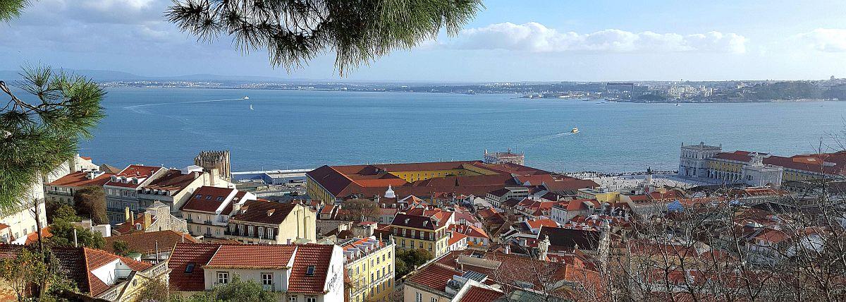 Näkymä Lissabonin ylle linnalta