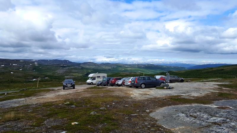 Alta-kanjonille parkkipaikka