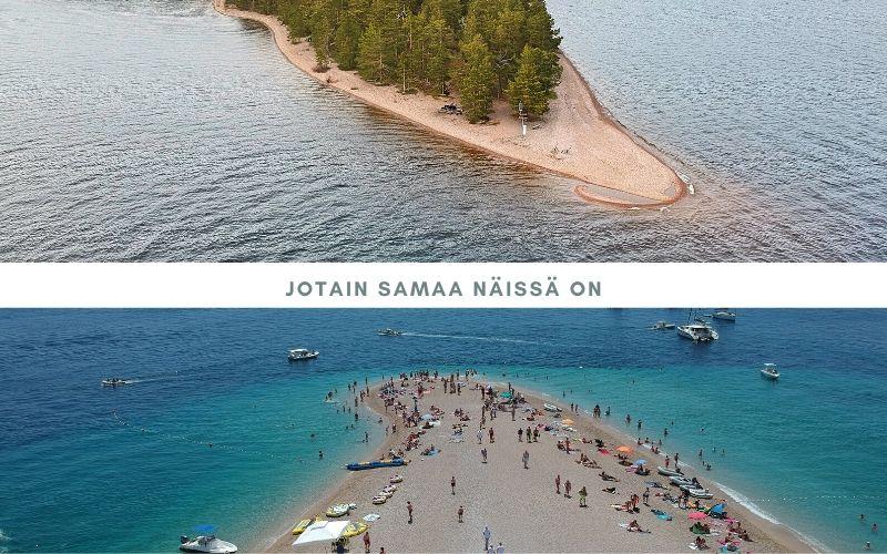 Ranta Suomessa, joka muistuttaa rantaa Kroatiassa