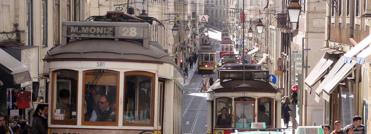 Rautiovaunut Lissabonissa