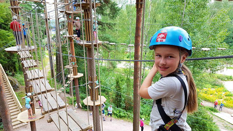 10-vuotias Seikkailupuisto Huipussa
