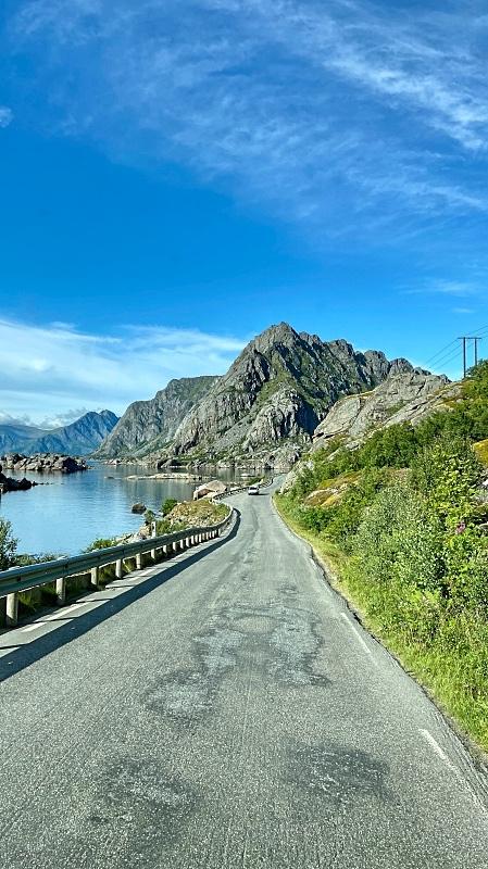 Tie Lofooteilla Norjassa