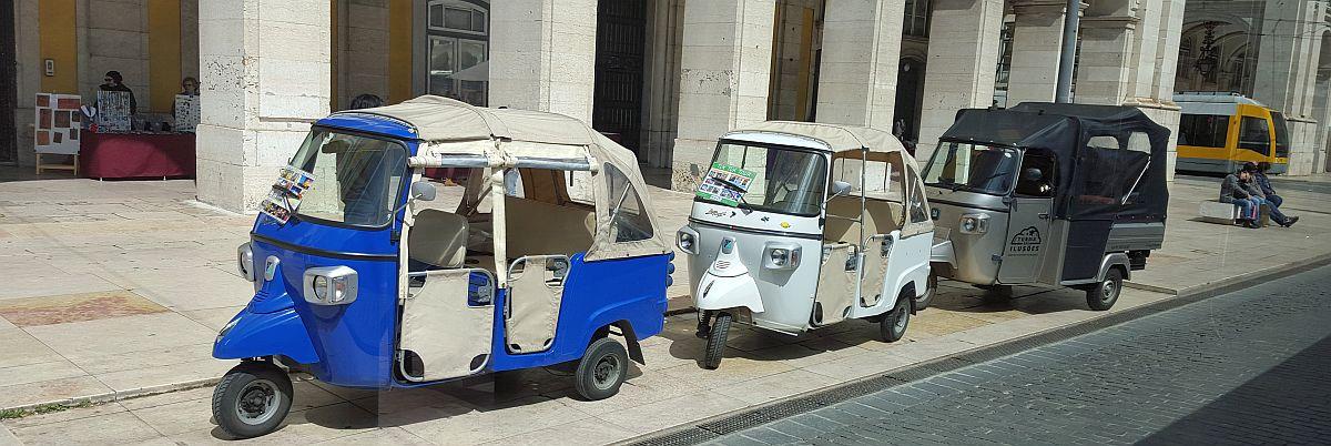 Tuktukit Lissabonissa