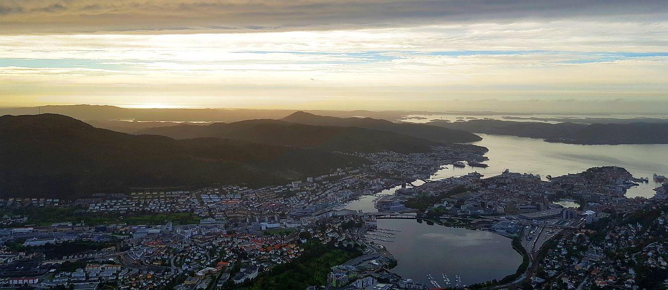 Maisema Ulrikenilta Bergenissä