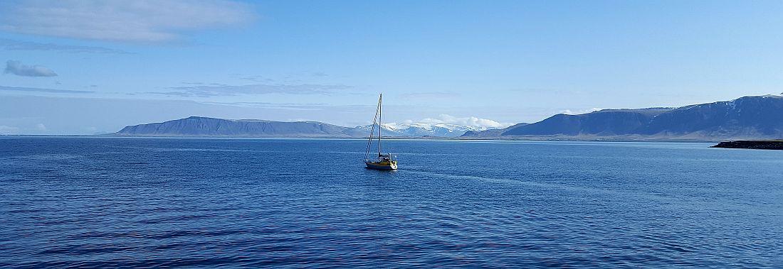 Merimaisemaa Islannissa