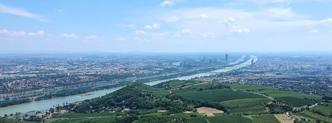 Wien maisema Kahlenbergiltä