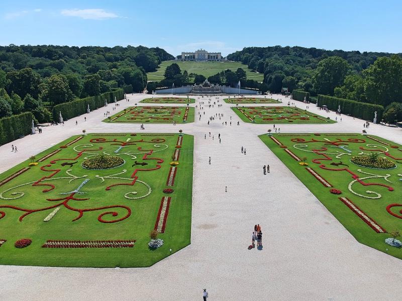 Schönbrunnin linnan puutarha